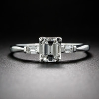 .70 Carat Emerald-Cut Diamond Estate Engagement Ring - 10-1-6767 - Lang Antiques