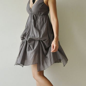 Jazzy.... Gray  Cotton Dress