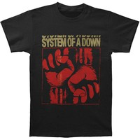 System Of A Down Men's  Fistacuff T-shirt Black