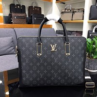 LV Louis Vuitton DAMIER MONOGRAM BRIEFCASE BAG CROSS BODY BAG
