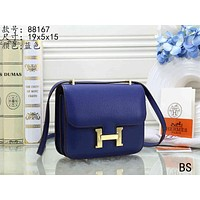 Hermes Women's Fashion Leather Tote Shoulder Crossbody Bag size:19*5*15