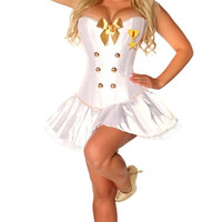 Plus Size Sexy Naval Officer Costume