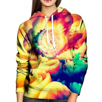 Abstract Spin Womens Hoodie