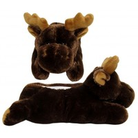 Brown Moose Animal Slippers