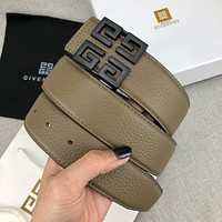 Givenchy smooth buckle fashion versatile business 4G high-end belt belt-5
