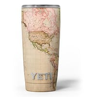 The Western World Overview Map - Skin Decal Vinyl Wrap Kit compatible with the Yeti Rambler Cooler Tumbler Cups