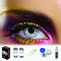 EDIT Glimmer Silver Coloured Contacts (Kit)