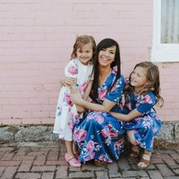 Family Dresses Mother Daughter Matching Summer Baby Girl Dress Clothes Outfit short sleeve print casual dress