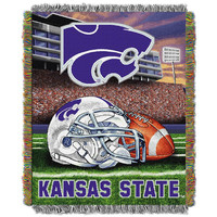 Kansas State Wildcats NCAA Woven Tapestry Throw (Home Field Advantage) (48x60)