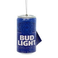 Holiday Ornaments BUD LIGHT BEER CAN Plastic Anheuser-Busch Alcohol Ab1111