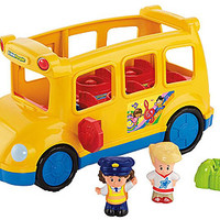Fisher-Price Little People Lil' Movers School Bus with Bus Driver & Eddie Figures