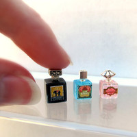Vintage Perfume Bottle in dollhouse miniature one inch scale