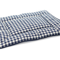 Reversible Check Crate Pad, Navy/White, Pet Beds