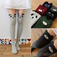 Women's Fashion Cute 3D Cartoon Animal Pattern Thigh Stockings Over Knee High Knit Socks = 5987821761