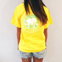 Yellow Elephant T Shirt with Pockets