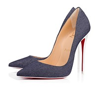 Christian Louboutin Cl So Kate Blue/latte Denim 18s Pumps 1180605u151