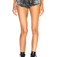 Unravel Cloudy Lace Up Short in Black | FWRD