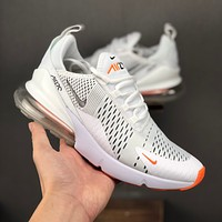 Nike Air Max 270 White Orange Men Running Shoes - Danny Online