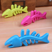 Pet Supplies Fashion TPR Rubber Dog Toys Bite Resistant Fish Bones Toys Molar Tooth Care Dogs Cats Toys = 1741717188