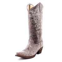 Corral Women's Brown Crater Bone Embroidery Boot