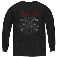 Seether Kids Long Sleeve Shirt Spider Black Tee