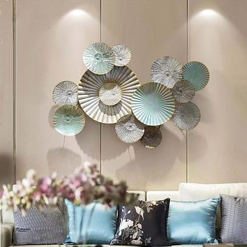 3D Creative Plates  Real Hollow Metal  Wall Hanging