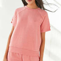 Op For UO Short Sleeve Fleece Top | Urban Outfitters