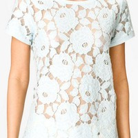 Floral Lace Tee | FOREVER 21 - 2025100480