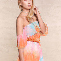 Feel the Rainbow Tie Dye Romper