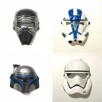 Star Wars Force Episode 1 2 3 4 5 New Arrival  Character Mask Darth Vader Clone Troops Soldier PVC Mask Halloween Gift AT_72_6