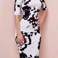 Driving Me Wild Black And White Dress