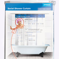 Urban Outfitters  - Facebook Shower Curtain