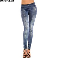 TOIVOTUKSIA Jeggings Jeans for Women Leggings Winter Jeans Look Seamless Jegging for Women
