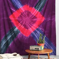 Magical Thinking Marley Tie-Dye Tapestry- Purple One