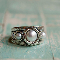 Pearls that Rock Ring