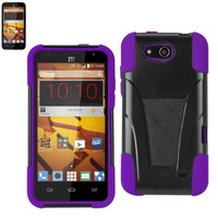 Silicon Case+Protector case For ZTE SPEED N9130 PURPLE BLACK