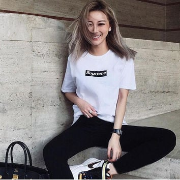 Women's Fashion Print Strong Character Hip-hop Summer T-shirts [10233593799]
