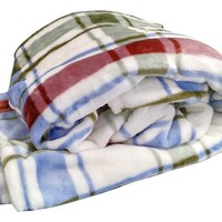 Tache Plaid Bedside Comfort Super Flannel Throw / Blanket