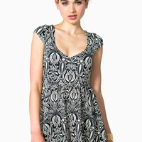 Damask Babydoll Dress
