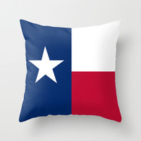 "The State flag of Texas - The ""Lone Star Flag"" of the ""Lone Star State"" Authentic Version Throw Pillow by LonestarDesigns2020 - Flags Designs +"