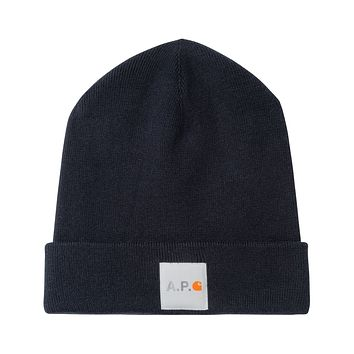 Carhartt WIP Watchtower Knit Cap in Dark Navy