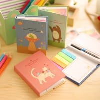 Cute Memo notes Rainbow Hard cover sticky notes Post it stickers paper Stationery Office material school supplies
