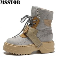 MSSTOR Spring Autumn Women's Sport Shoes Woman Brand Athletic Walking Winter Sneakers For Women Height Increasing Running Shoes