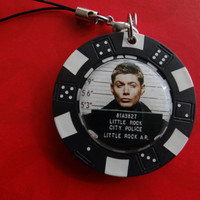 Two Sided Dean from Supernatural Zipper Pull or Bag Charm