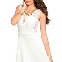Dare Lace Detail Dress in White