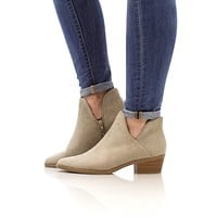 The Ava Ankle Bootie - Clay