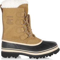 Sorel - Caribou suede and waterproof rubber boots