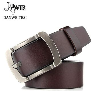 Fashion Designer Belts Men High Quality Cow Genuine Leather Strap Man Belt Cinctures Hombre Pin Buckle