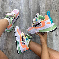 Nike Air MAX 270 REACT SP Wear resistant and shock absorption leisure running shoes