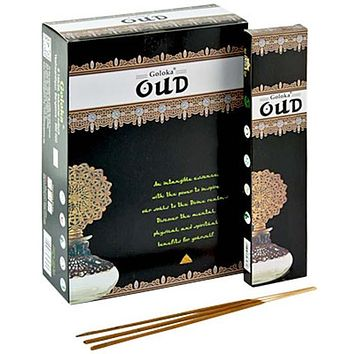 Goloka Oud Incense - 15 Gram Pack (12 Packs Per Box)